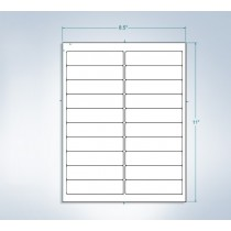 "8-1/2"" x 11"", 20 Labels, per Sheet,4"" x 1"""