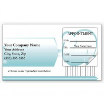 Dental Appointment Cards, Peel And Stick, Toothbrush Design