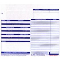 """10 x 8-1/2"""" 5 Part Continuous Generic Invoice"""
