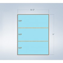 8-1/2 x 11 24# Blue Paper 2 Horizontal Perforations @ 3-2/3 & 7-1/3 from bottom