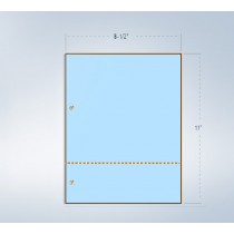 "8-1/2 x 11"" Blue 24# Paper 1 Horizontal Perforation 3"""