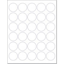 "8-1/2"" x 11"" 30 Labels per Sheet 1.5"" Round"