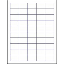 "8-1/2"" x 11"" 50 Labels per Sheet 1-1/2"" x 1"""