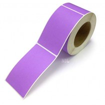 Rectangle Inventory Color Coding Labels - Purple - 3 x 5