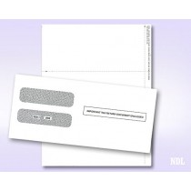 2018 3 UP Laser W-2 Forms, Employee Copy, Horizontal Format (50 Blank Sheets & Envelopes)