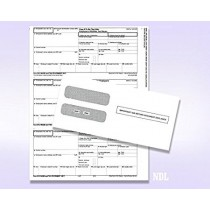 2019 3 UP Laser W-2 Forms, Employee Copy, Horizontal Format (50 Blank Sheets & Envelopes)