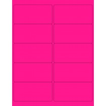 "8-1/2"" x 11"" Pink Fluorescent 10 Labels per Sheet 4 x 2"