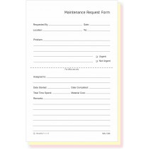 "Maintenance & Repair, Request Forms, 5.5"" x 8.5"""
