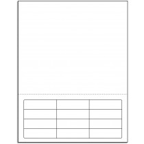 Integrated Label Form 12 Labels 2.5 x 3/4