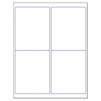 "8-1/2"" x 11"", 4 Labels, per Sheet,4"" x 5"""