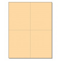 8-1/2 x11  Laser Cards  4 Up - Buff