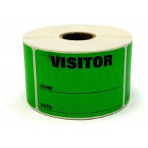 "3"" x 2"" Labels Pass 500 Labels  Green ""Visitor "" Labels  1"" Core"