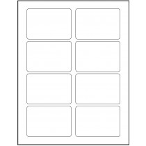 "8-1/2"" x 11"" 8 Labels per Sheet 3-3/8"" x 2-1/3"" Each Label"