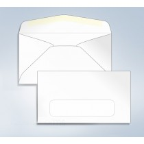"Blank Envelope,W/Window, 6 3/4, 6-1/2"" x 3-5/8"
