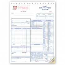 HVAC Service Work Order,  Form and invoice C