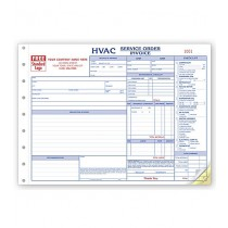 HVAC Service Work Order,  Horizontal, Form and invoice