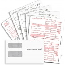1099 MISC Forms for 2021, 4-Part Tax Forms, Vendor Kit of 25 Laser Forms and 25 Self-Seal Envelopes, Forms Designed for QuickBooks and Other Accounting Software