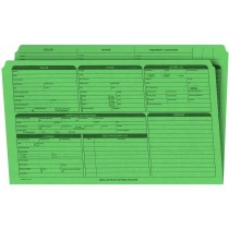 Real Estate Folder, Right Panel List, Legal Size, Green