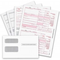 1099 MISC Forms for 2020, 4-Part Tax Forms, Vendor Kit of 25 Laser Forms and 25 Self-Seal Envelopes, Forms Designed for QuickBooks and Other Accounting Software