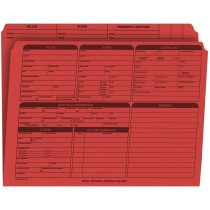 Real Estate Folder Right Panel List Letter Size, Red