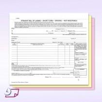 Short Form, Straight Bill of Lading, Blank NO Company Imprint