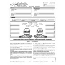 auto transport bill of lading with 1 car style 3