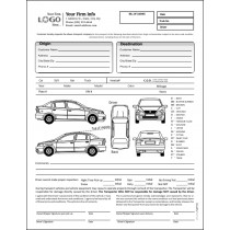 Auto Transport Bill of Lading with 1 Car, Style #1
