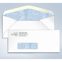 Imprinted Tinted Envelope,w/window, #9,3 7/8 x 8 7/8