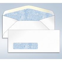 Blank Tinted Envelope,w/window, #9, 3 7/8 x 8 7/8