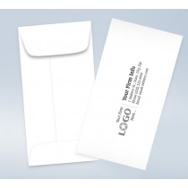 7 Coin Imprinted Envelope White