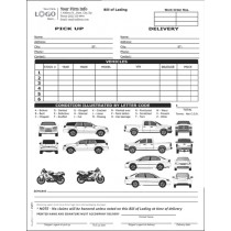 Car, SUV, Pickup Truck & Motorcycle Transport Bill of Lading Form