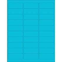 "8-1/2"" x 11"" Blue Fluorescent 30 Labels per Sheet 1"" x 2-5/8"""