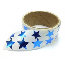 Metallic Foil Star Stickers, Blue