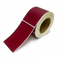 Rectangle Inventory Color Coding Labels - Burgundy - 3 x 5