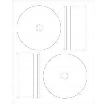 8-1/2 x 11  CD/DVD Label 2 per Page
