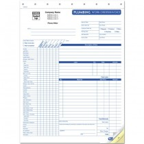HVAC Plumbing Work Order, Form and invoice