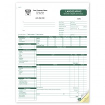 Landscaping Work Order / Invoice, 8 1/2 X 11""