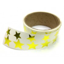 Metallic Foil Star Stickers, Gold