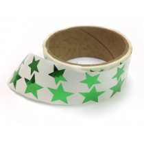 Metallic Foil Star Stickers, Green