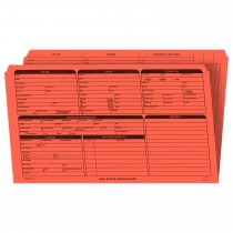 Real Estate Folder, Right Panel List, Legal Size, Orange