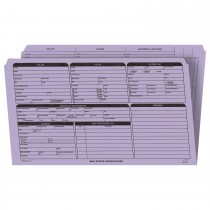 Real Estate Folder, Right Panel List, Legal Size, Lavender