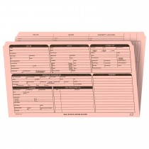 Real Estate Folder, Right Panel List, Legal Size, Pink