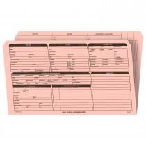 Real Estate Folder, Right Panel List, Legal Size, Pink