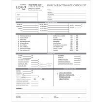 HVAC  Maintenance Checklist  Imprinted