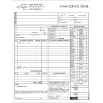 hvac service work order form imprinted