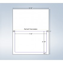 "Integrated Label Form, 1 Label  7-1/2 x 5-1/8"" on Center"