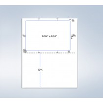 Integrated Click-N-Ship Label , 6-3/4 x 4-3/4""