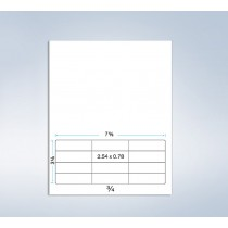 "Integrated Label Form, 12 Labels 2-1/2 x 3/4"" each"
