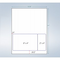 Integrated Label Form Label Size - 6 x 4 Label Size - 2 x 4