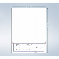 Integrated Label Form 5 Labels 2.5 x 1 | 2.5 x 2